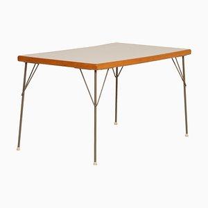 Tavolo da pranzo nr. 531 in metallo e legno di Wim Rietveld per Gispen, anni '50
