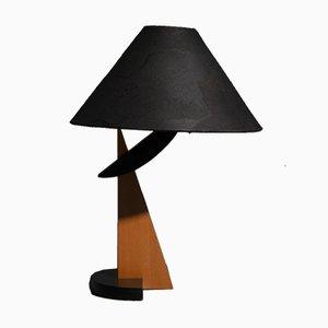 Lampe de Bureau Vintage en Bois, 1970s