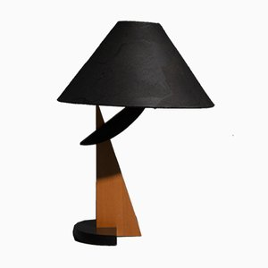 Vintage Wooden Table Lamp, 1970s