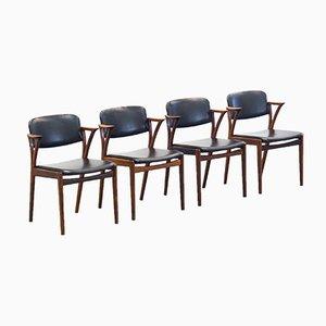 Esszimmerstühle aus Palisander und Skai von Kai Kristiansen für Bovenkamp, 1960er, 4er Set