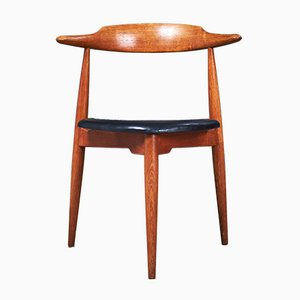 Danish Oak Heart FH 4103 Dining Chair by Hans J. Wegner for Fritz Hansen, 1950s