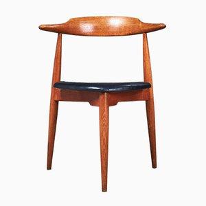 Sedia da pranzo FH 4103 in quercia e legno di Hans J. Wegner per Fritz Hansen, Danimarca, anni '50