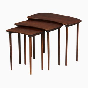 Tavolini ad incastro vintage in palissandro