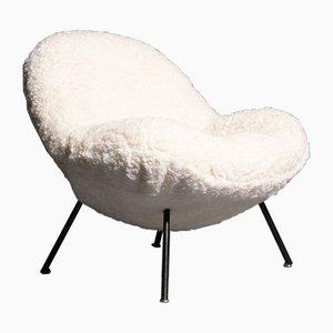 Deutscher Sessel aus Schafsfell von Fritz Neth für Correcta, 1960er