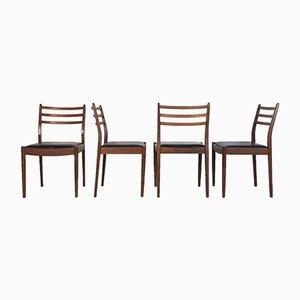 Chaises de Salle à Manger en Simili Cuir et Teck par Victor Wilkin pour G-Plan, 1960s, Set de 8