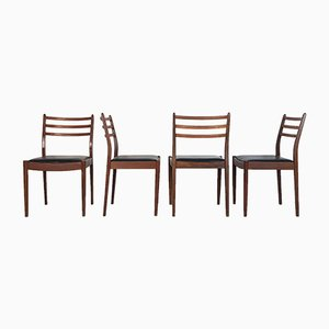 Leatherette and Teak Dining Chairs by Victor Wilkin for G Plan, 1960s, Set of 8