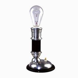Lampe de Bureau Vintage en Aluminium et Bois, 1920s