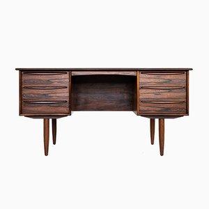 Mid-Century Danish Rosewood Veneer Desk, 1960s