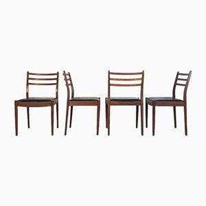 Chaises de Salle à Manger en Simili Cuir et Teck par Victor Wilkins pour G-Plan, 1960s, Set de 4
