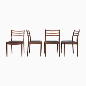 Leatherette and Teak Dining Chairs by Victor Wilkins for G-Plan, 1960s, Set of 4
