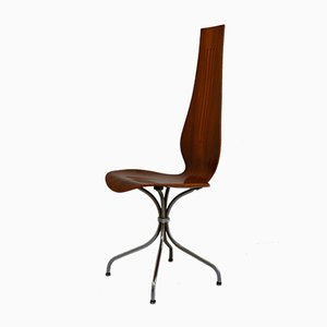 Walnut Lyra Model M-352 Dining Chair from Häberli Theo, 1970s