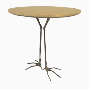 Modernist Italian Bronze Side Table by Méret Oppenheim for Cassina, 1970s