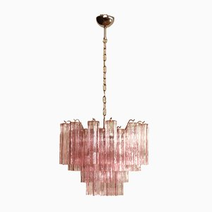 Vintage Italian Glass Chandelier, 1980s