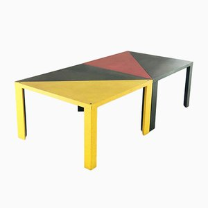 Italian Beech Tamgram Modular Dining Table by Massimo Morozzi for Cassina, 1982