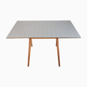 Grey Striped Formica & Beech Dining Table from Kandya, 1960s