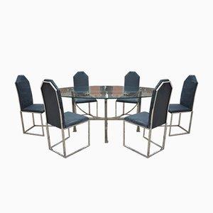 Vintage Esszimmerstuhl-Set mit 6 Stühlen von Belgo Chrom, 1970er