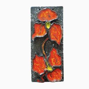 Wandteller aus Keramik von Ruscha, 1960er