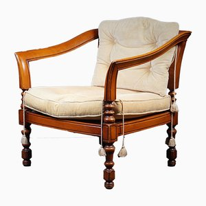 Neo-Classical Italian Oak Armchair from Giorgetti, 1970s