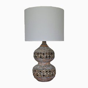 Mid-Century French Ceramic Table Lamp by Giarrusso Raphael, 1968
