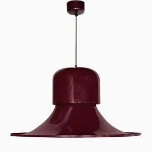 Lampada da soffitto Hat in metallo di Joe Colombo per Stilnovo, Italia, anni '70