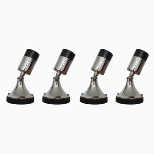 French Chrome Plated Directional Table Lamps from Disderot, 1960s, Set of 4