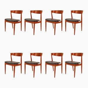 Sedie da pranzo in teak di H. W. Klein per Bramin, Danimarca, anni '60, set di 8