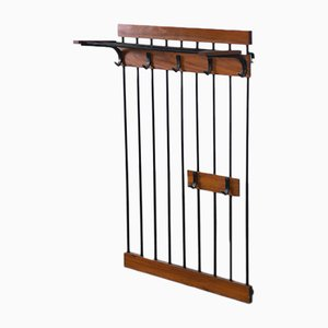 Mid-Century Danish Metal and Teak Coat Rack, 1960s
