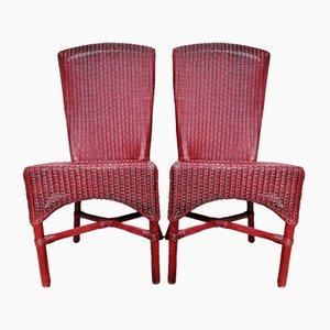 Chaises d'Appoint Lusty en Rotin par Lloyd Loom pour Hamefa, 1980s, Set de 2
