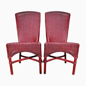 Rattan Lusty Side Chairs by Lloyd Loom for Hamefa, 1980s, Set of 2