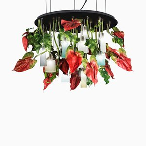 Black Glass Anthurium Chandelier from VGnewtrend