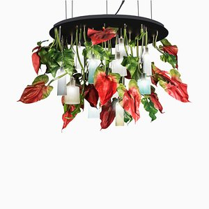 Black Glass Anthuriuim Chandelier from VGnewtrend