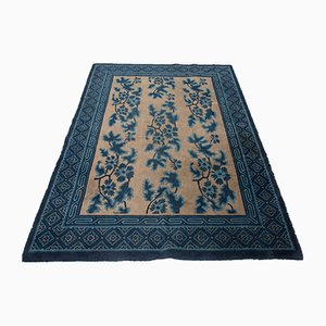 Tapis Antique en Coton et Laine, Chine, 1800s