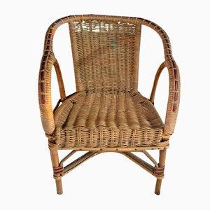 Vintage Armlehnstuhl aus Rattan