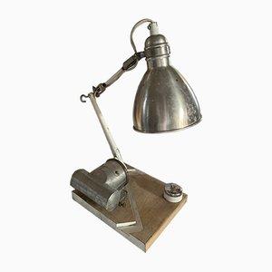 Industrielle Mid-Century Tischlampe aus Aluminium, 1960er
