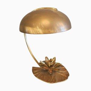 Französische Vintage Lily Tischlampe aus Bronze von Maison Charles