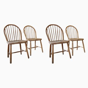Oak Windsor Model CH 18S Dining Chairs from Carl Hansen & Søn, 1960s, Set of 4