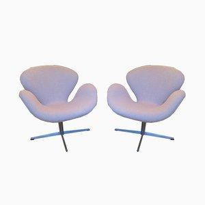 Vintage Swan Chairs von Arne Jacobsen für Fritz Hansen, 2er Set
