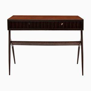 Italian Rosewood & Beech Desk, 1950s