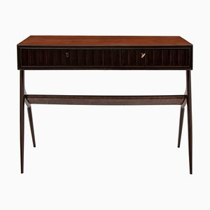 Italienischer Palisander & Buchenholz Schreibtisch, 1950er