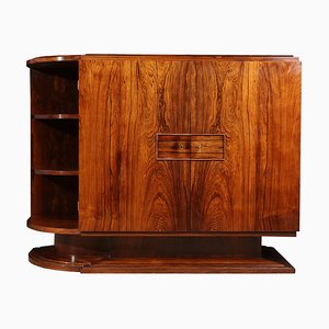 Vintage Art Deco French Rosewood Sideboard, 1930s