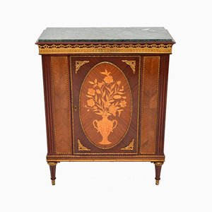 Vintage French Marble Top Cabinet, 1930s