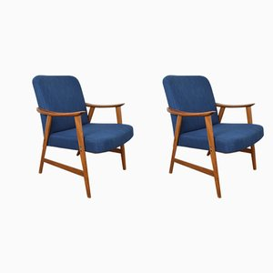 Norwegische Mid-Century Armlehnstühle aus Teak von Dokka Møbler, 1960er, 2er Set