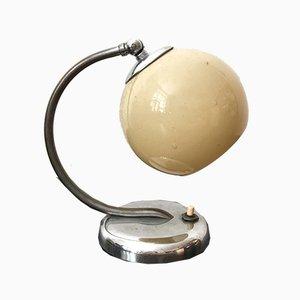 Beige Art Deco Glas Tischlampe, 1920er