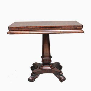 19th-Century Rosewood Card Table