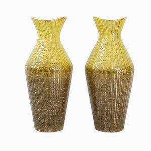 Italienische Mid-Century V540 / 32 Keramik Vasen, 1950er, 2er Set
