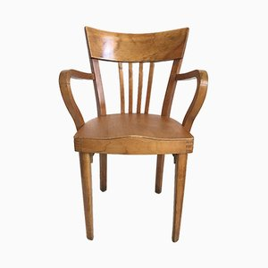 Art Deco French Wooden Office Chair from Fischel, 1930s