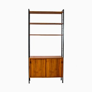 German Walnut Model 03 Bookcase by Florence Knoll Bassett for Knoll Inc. / Knoll International, 1960s