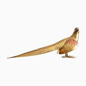 Grand Oiseau Vintage en Laiton et Cuivre par Bustamante