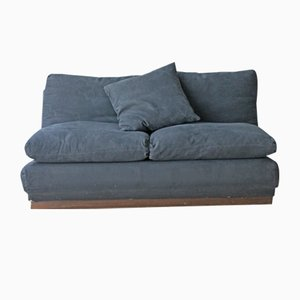 Schwarzes Vintage 2-Sitzer Sofa