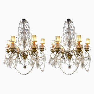 Vintage Italian Chandeliers, Set of 2